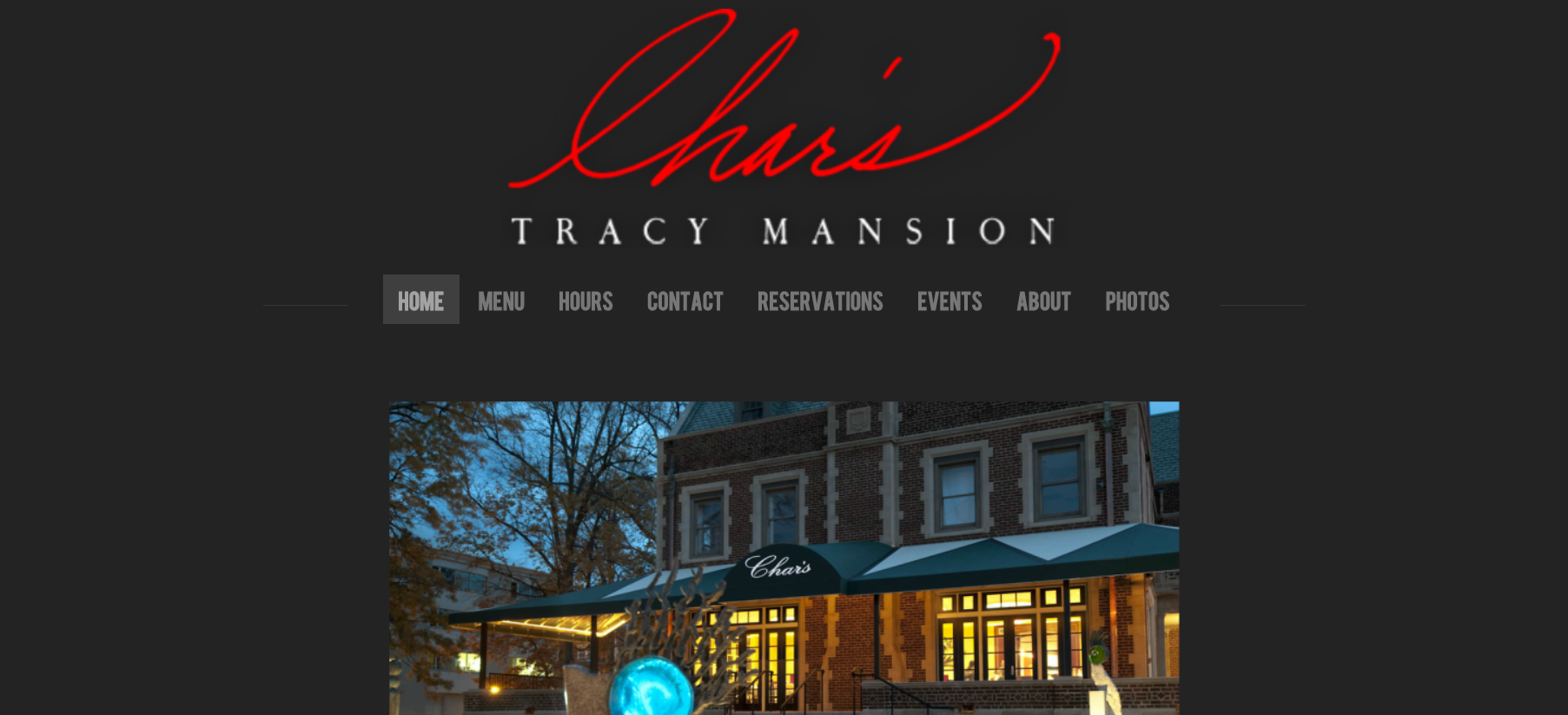Char's at Tracy Mansion